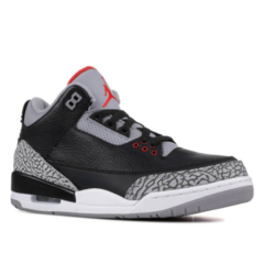 "Tênis Air Jordan 3  ""Black Cement"""