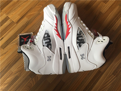 Tênis Air Jordan 5  ''Supreme White""