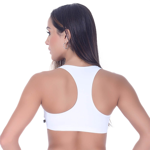 Top Fitness sem Bojo Branco Summer Soul