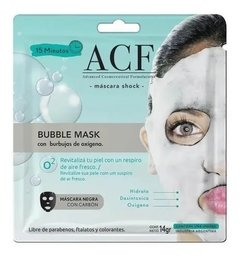 Acf Bubble Mask Mascarilla Facial Shock Burbujas De Oxigeno