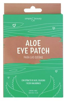 Parche De Hidrogel Con Aloe Ojeras Simple & Beauty 3 Pares
