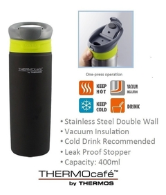 Vaso Termico Thermos Smapush 400 Ml Acero Inox Doble Pared - comprar online
