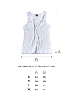 Musculosa Rib Gris - ABC Not Found