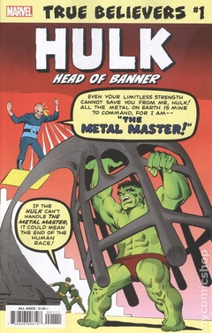 True Believers Hulk Head of Banner (2019 Marvel) #1