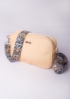 Mini Morral Durazno Faja Animal Print