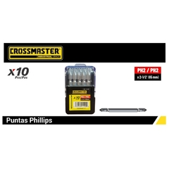Puntas Destornillador Dobles Crossmaster Phillips - Ph 2 X 65 Mm Doble - comprar online