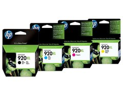 Cartuchos de tinta inkjet originales HP 920XL (Delivery Pack 4 colores)
