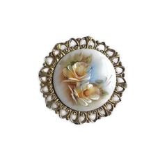 Broche Porcelana Arranjo