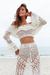 CONJUNTO CROCHET CHEERS - CREAM na internet