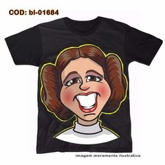 Camiseta Unissex  Star Wars Princesa Leia Comic