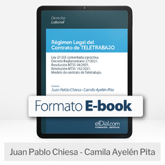 E book: Régimen Legal del Contrato de Teletrabajo