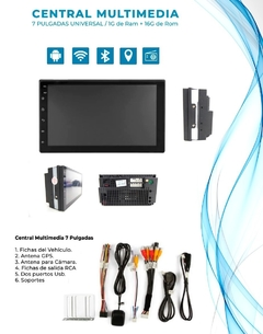 "Stereo Multimedia 7"" T3 Doble Din con Mirror Link para Android y iPhone - USB y Bluetooth en internet"