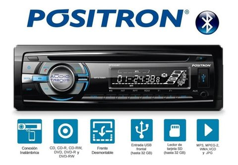 Stereo Positron Sp3305 Bt Cd-aux-bt-radio