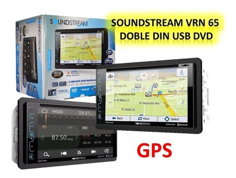 "DVD Doble Din 6,2"" SoundStream VR-620HB con USB - Bluetooth - PhoneLink"