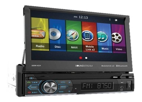 "DVD 1 Din InDash 7"" SoundStream VRN-75HB con GPS - USB - Bluetooth - PhoneLink"