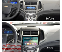"Stereo Multimedia 9"" para Chevrolet Sonic con GPS - WiFi - Mirror Link para Android/Iphone - Audio Trends"