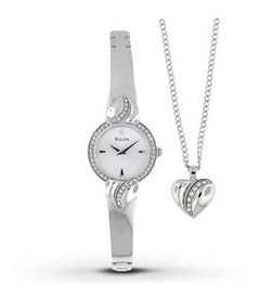 Reloj Mujer Bulova 96X111 Crystal Pendant and Bangle, Agente Oficial Argentina