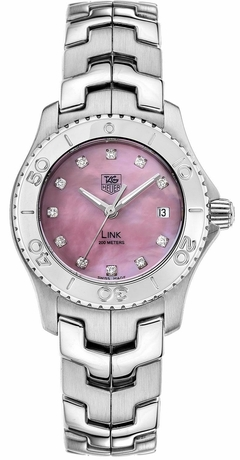 Reloj Mujer Tag Heuer Link Pink Mother Of Pearl WJ131C.BA0573 Special Line Agente Oficial Argentina