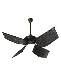 Caribean rattan Fan Chocolate - buy online