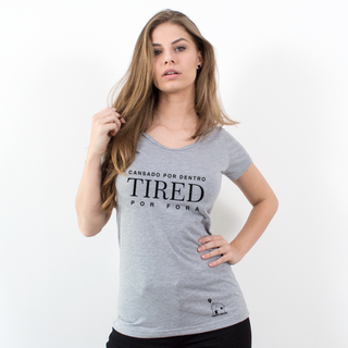 CAMISETA CINZA - TIRED POR FORA
