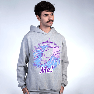 MOLETOM CINZA - PROUD TO BE UNICORN