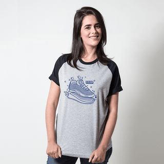 CAMISETA RAGLAN CINZA - BIG AIR