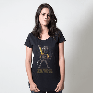 camiseta preta música the force