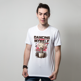CAMISETA BRANCA - DANCING WITH MYSELF