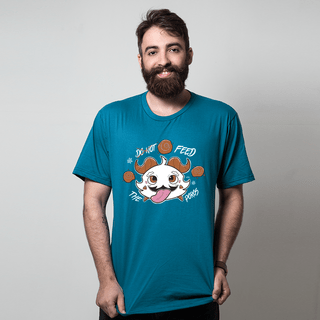 camiseta azul petroleo games feed the poros