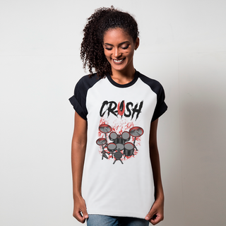 CAMISETA RAGLAN BRANCA - CRUSH
