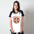 CAMISETA RAGLAN BRANCA - KEEP CALM EAT PIZZA