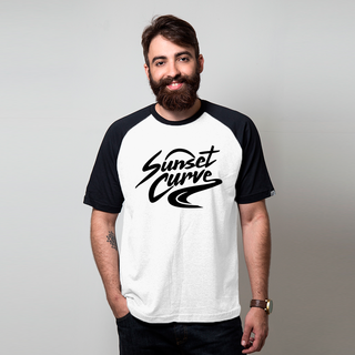 CAMISETA RAGLAN BRANCA - SUNSET CURVE MERCH