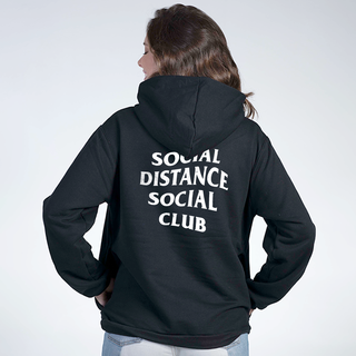 MOLETOM PRETO - SOCIAL DISTANCE CLUB