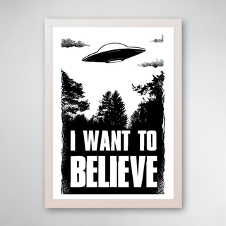 PÔSTER COM MOLDURA - I WANT TO BELIEVE