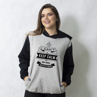 MOLETOM RAGLAN - I CAN'T KEEP CALM EU SOU INVESTIDOR