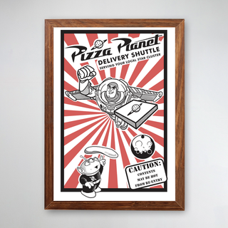 PÔSTER COM MOLDURA - PIZZA PLANET