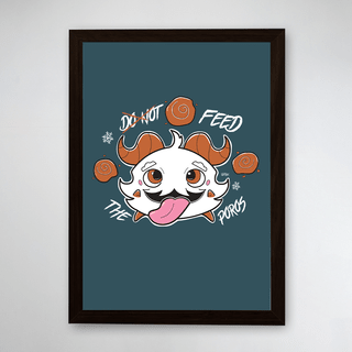 PÔSTER COM MOLDURA - FEED THE POROS