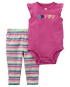 Carter's Set 2 piezas body + pantalon - Happy