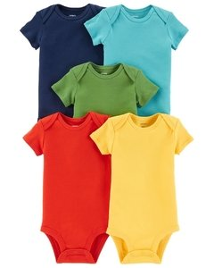 Carter's set de body manga corta - Color Liso