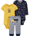 Carter's Set de 3 piezas: 2 body + Pantalon -  Camion