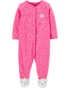 Carter's Enterito Pijama con pies toalla - Rosa Chicle