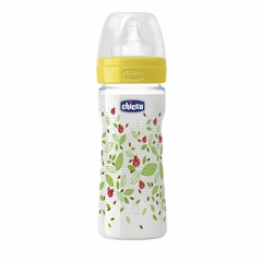 Chicco Mamadera Wellbeing 250ml - Amarillo