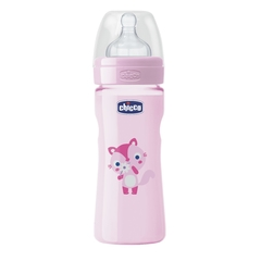 Chicco Mamadera Wellbeing 250ml - Rosa