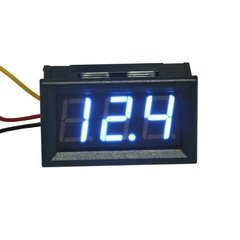 Voltimetro De Panel 3 Digitos 0 - 30v Display Azul Nubbeo