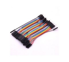 Pack 40 Cables 10cm Protoboard Macho Hembra Nubbeo