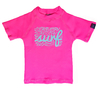 Remera MC Surf and Flower´s Rosa Chicle Fluo