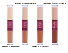 Corrector Líquido Dúo Sculpt Feels Hb8101-2 Cookie 60 e Chocolate Amargo 40 - Ruby Rose - tienda online