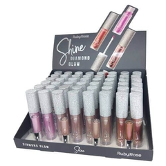 Hb8228-D Display de glosses líquidos shine diamond glow (trae 48u.-4 tonos)  - Ruby Rose