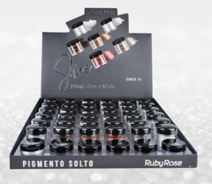 HB8409x36-G1 Display de pigmentos shine GRUPO 1 -RUBY ROSE