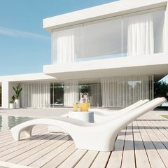 Reposera de plastico Amalfi color Blanco - tienda online